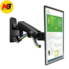 875061464-NB F120 (17-27 inch) LCD computer monitor stand Multi-function rotating display bracket Free lifting retractor Black on JD