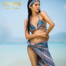 -Light luxury brand ZPPSN2017 new seaside resort beach swimsuit women sunscreen yarn skirt bikini with yarn on JD