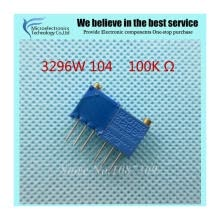 -10Pcs/lot 3296W-1-104LF 3296W 104 100K ohm Top regulation Multiturn Trimmer Potentiometer High Precision Variable Resistor on JD