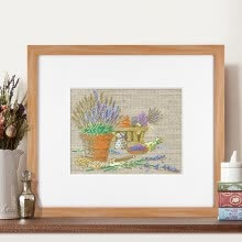 needlework-embroider DIY DMC Cross stitch,Sets For Embroidery kits  Lavender flowerpot  factory direct sale on JD