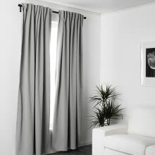 8750202-FOOJO Fureng finished curtains linked to the living room bedroom floor curtain fabric 2 meters wide * 2.7 m high gray gray on JD