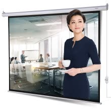 875061584-Effective (deli) 50492 100 inch electric adjustment 4: 3 projection screen / projection screen / projector curtain white on JD