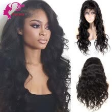 -8A Lace Front Wig With Baby Hair Body Wave Lace Front Wigs 130% Density Pre Plucked Natural Hairline Indian Lace Front Wigs on JD