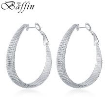 hoop-earrings-BAFFIN Rock Big Silver Plated Hoop Earrings Women Fashion Jewelry on JD