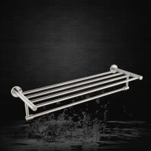 bathroom-accessories-HIDEEP Stainless steel single layer bath towel rack on JD