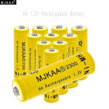 -MJKAA® 10pcs 1.2V Ni-MH AA 2300mAh Rechargeable Battery 2A Neutral Battery Rechargeable battery AA batteries For toys camera on JD