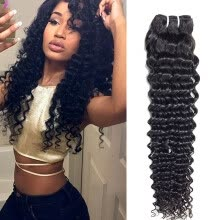 -7A Brazilian Deep Wave Brazilian Hair 4 Bundles Queen Hair Product Deep Curly Brazilian Virgin Hair Deep Wave Human Hair Weave on JD