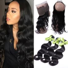 -Pre Plucked 360 Lace Frontal Closure Natural Hairline Malaysian Virgin Hair Body Wave Lace Band Frontal Closure with Baby Hair on JD
