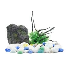 8750208-NaturalColor aquarium decoration landscaping package resin crafts simulation Qinglong stone Shen wood suits on JD
