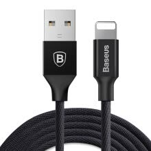 -Baseus Micro USB Charging and Data Transfer Cable for iPhoneX/8/6s/7plus/5SE/iPad 0.6M Black on JD