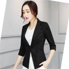 73b1035619c52 Women Linen Half Sleeve Blaser 2017 New Elegant Casual Candy Color Single  Button Plus Size Work Blazer Office Jacket Pink White