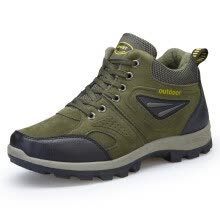 -Mr.zuo Autumn and winter men plus cashmere warm outdoor hiking shoes on JD