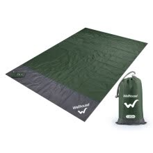 -WELLHOUSE outdoor picnic mat moisture-proof mat beach mat thin section folding light storage with nails blue gray 1.4*2m on JD