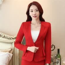 f7b140ac12c Elegant Business Formal Office Blaser Suits Wear Women Long Sleeve Feminine  Blazer Clothing Ladies Vogue Top Plus Size S To 5XL
