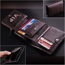 875071723-Brand New Luxury Men Wallet Genuine Leather Boutique Trifold Zip Coins Purse #Z on JD