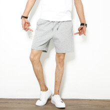 875068681-SHUYI Summer Running Shorts Male  Basketball Yoga Sports Pants Pure Cotton Pure Color Wit Students With Pocket on JD