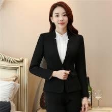 b8b57bc6ee5 Formal Office Blaser Suits Wear Women Long Sleeve Black Blazer Suit Jacket  Winter Autumn Spring Plus Size S To 5XL Ladies Tops