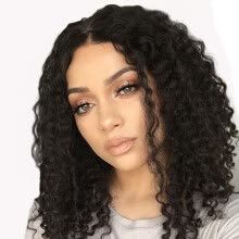 -AISI HAIR Synthetic Wigs for Black Women Kinky Curly Afro Wig African American 20' Long Hair on JD