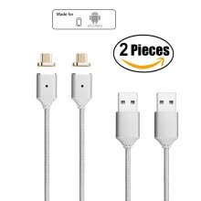 -Keymao 2nd Generation Magnetic Braided USB Charging Cable for Samsung Galaxy S2 S3 S4 S6 , Note 2/3/4/5,LG G4 G3, Sony Xperia 2 on JD