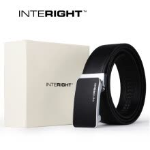 875061442-INTERIGHT leather men's light business automatic buckle belt gift box [automatic buckle] on JD