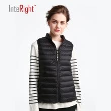 -INTERIGHT 90 white duck down lady collar ultra-light portable down velvet sky blue XL code on JD