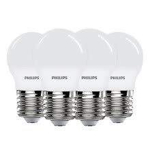 -PHILIPS LED Bulb 3.5W E27 Large Screw Base 3000k Warm White Yellow Light Lamp (4PCs in Package) on JD