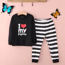 -New Cute Baby Kids Girls Boys Soft Cotton Striped Pajamas Pyjamas Sleepwear Set on JD