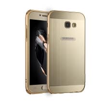 Luxury Case for Samsung Galaxy A5 2017 Aluminum Bumper+Acrylic Panel Back Glossy Business Cover for Samsung A520