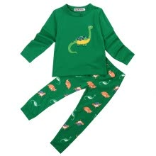-Kids Baby Boy Girls Dinosaur Pajamas Set T-shirt Nightwear Sleepwear Homewear on JD