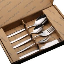 87502-Baige BAYCO stainless steel knife and fork spoon tableware five sets of BX4948 on JD