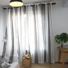 8750202-Stylish Floral Flower Tulle Door Shower Window Curtain Drape Panel Sheer Valance on JD
