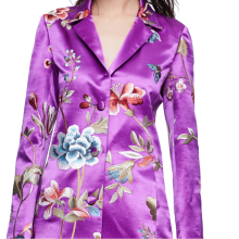 -Chinese embroidered purple silk suit jacket on JD