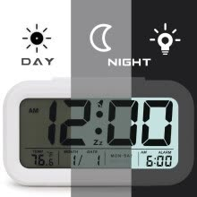 home-d-cor-Digital Alarm Clock Student LCD Display Snooze Kids Clock Light Sensor Calendar Temperature Date Nightlight Office Table Clock on JD