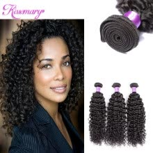 -Indian human hair weaving curly human hair extensions 3 bundles unprocessed human hair on JD