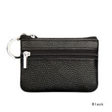 875071723-Men Women Soft Card Coin Key Holder Zip Genuine Leather Wallet Pouch Bag Purse on JD