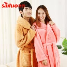 b2aa5d0f2f New Women Coral Fleece Winter Autumn Warm Bathrobe Nightgown Kimono Dressing  Gown Sleepwear Robe For Lady Long Man Bathrobe