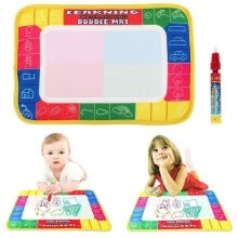 -Girl Toy Drawing Water Pen Painting Magic Doodle Aquadoodle Mat Board Kid Boy (Size: 29cm x 19cm, Color: Multicolor) on JD