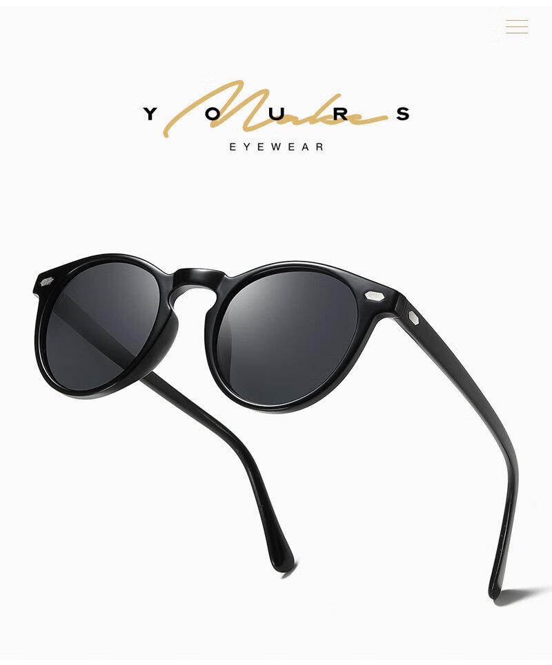 630715003e Gafas de sol polarizadas redondas de moda para hombres y mujeres ...