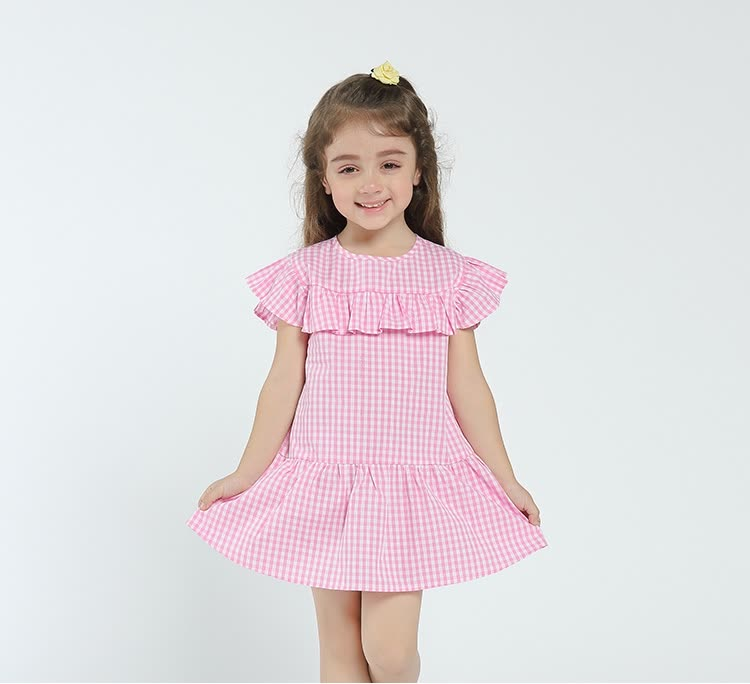 a48ce2b10c2 Kids Dress For Girls Spring 2018 New Arrival Baby Girls Dresses Summer  Cotton Girls Clothe Casual Flounced Patchwork Hot Sale