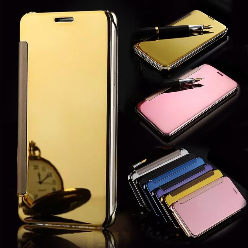 Shop Samsung Galaxy C5/C7/C9 Pro Luxury Mirror View Mirror PU Cover