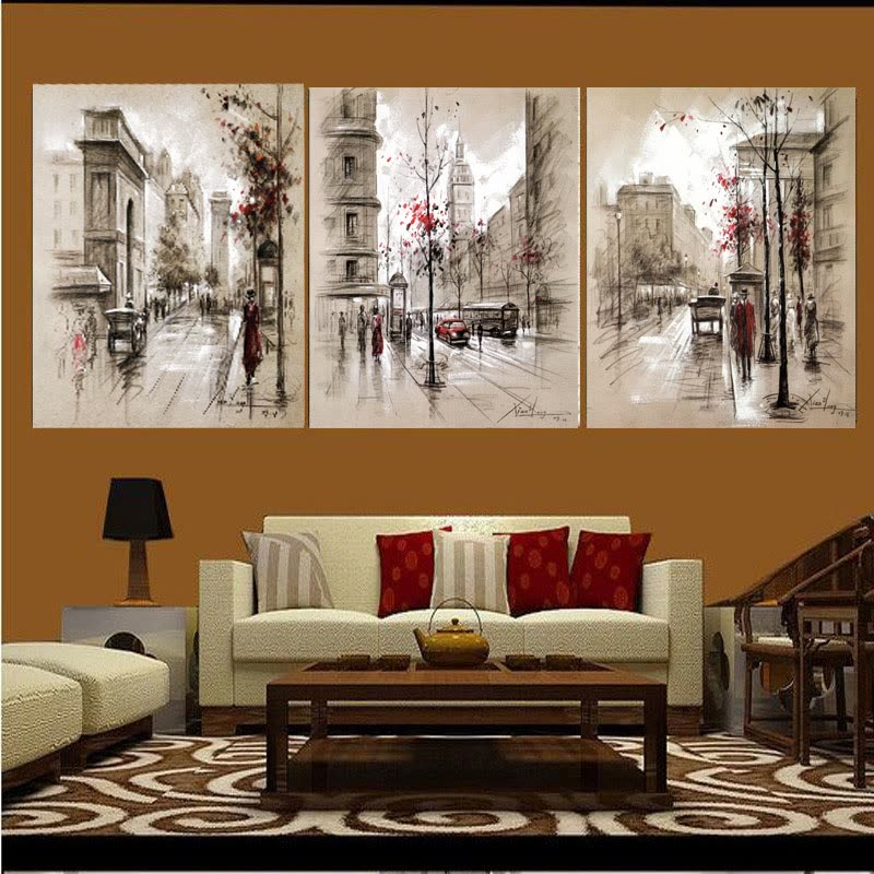 Shop 3 Panels Canvas Painting Modern On The Wall Picture Living Room And Bedroom Art Decorative Pictures Flower Paintings 40x50cmx3pcs Online From Best Furniture And Decor On Jd Com Global Site Joybuy Com