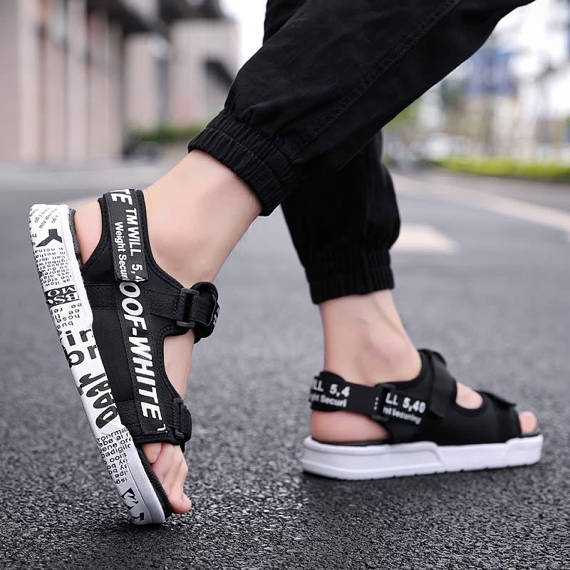 b623d53822d4 Shop Damaizhang High Quality Men Fashion Sandal Letter Print Soft ...