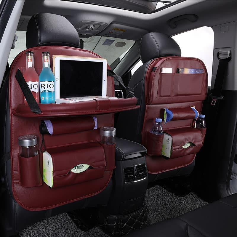 Shop Car Back Seat Bag Folding Table Organizer Bags Phone Pad Chair ... 854d81ef3155
