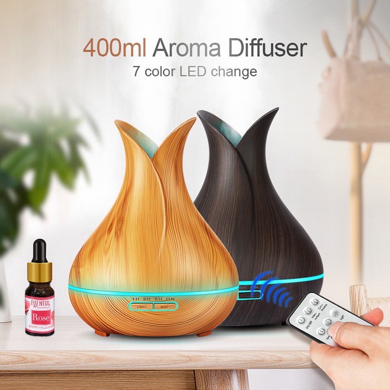 400ml LED Air Humidifier Aroma Essential Oil Diffuser Remote Control Mist maker