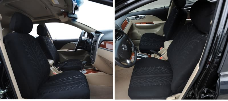 Shop Car Seat Cover Universal Fit Most Car Truck Suv Black Seat Covers Embossed Polyester Cloth Car Seat Protector Online From Best Seat Covers Accessories On Jd Com Global Site Joybuy Com