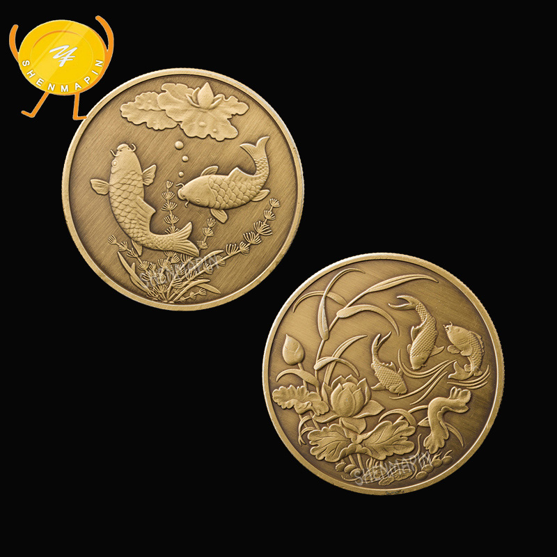 2018 The Dog Commemorative Collection Coin Gold Plated Lucky Wish Gift