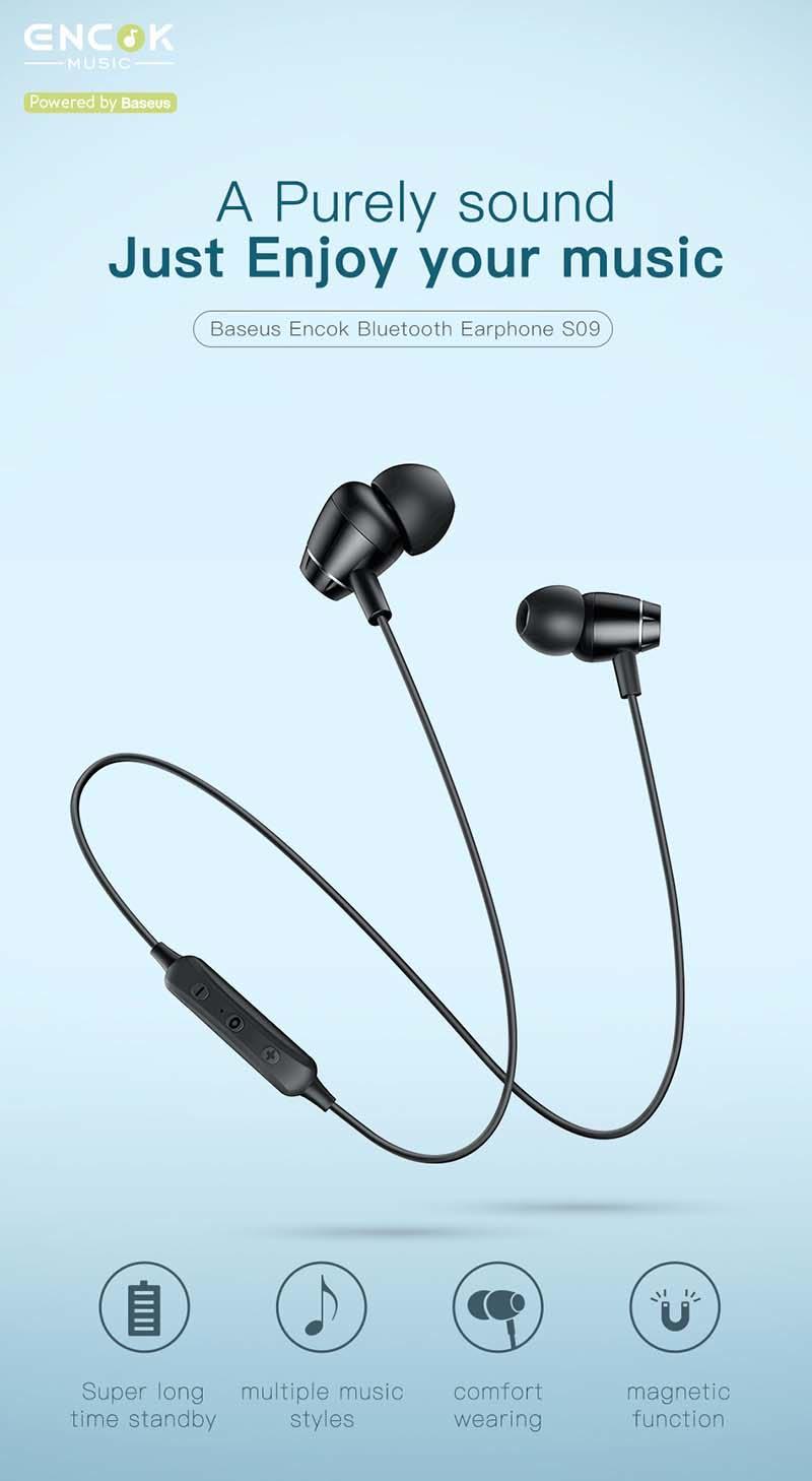 Наушники для наушников Baseus S09 для наушников с микрофоном ... 48c41722b572d