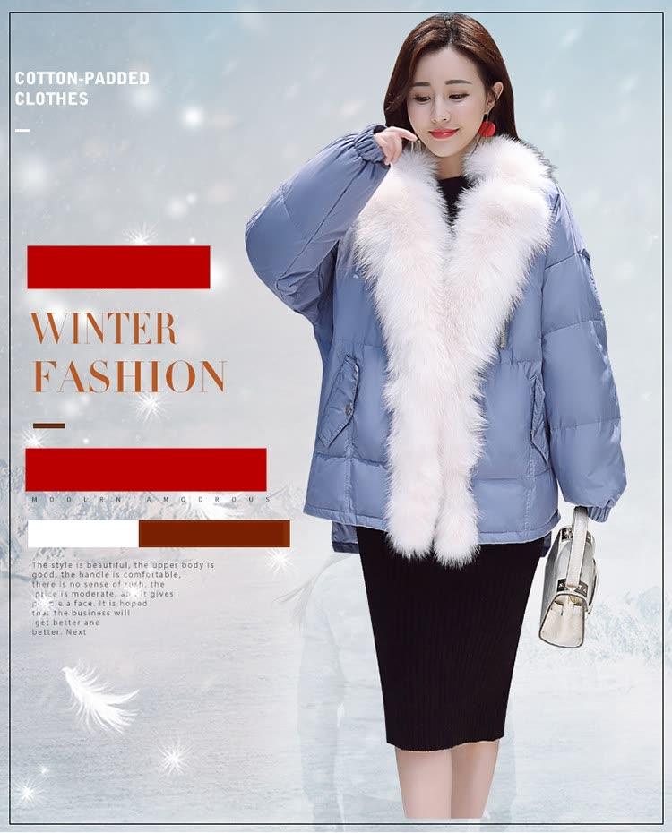 61cac6fb4 Shop Super fox fur collar short style down jacket women 2018 winter ...