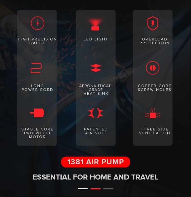 Shop Fei Chang Ai Che 1381 Portable Car Air Pump Online from