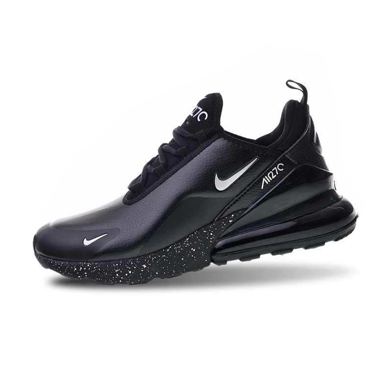 finest selection dfbd3 94039 Shop Nike Air Max 270 Premium All Black Men s Running Shoes Sports ...